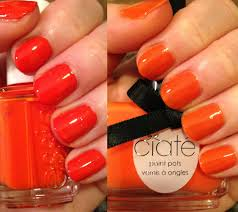the beauty of life orange nail polish swatches essie orange