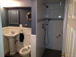 how to make bathroom in basement home design planning photo with