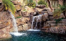 rock waterfalls for pools water in motion top water features for pools luxury pools