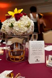 themed centerpieces for weddings football centerpieces nfl football stadiums our sports themed