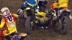 ama motocross 2014 ivan tedesco dragged by legs across track indianapolis