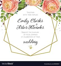 wedding invitation cards design wedding invitation floral invite card design with vector image