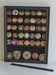 shadow box with shelves and glass door amazon com challenge coin casino chip display case cabinet
