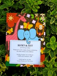jungle baby shower invite monkeys elephants giraffes u003d absolute adorable baby shower