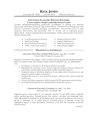 Sample Resume For Professional Engineer by Ideas Collection Sample Resume For Industrial Engineer For Your