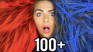 halloween color hair spray 100 coats of hairspray colored hairspray edition youtube