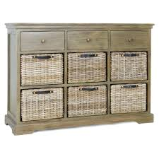 Oak Small Sideboard Global Home Suffolk Large Sideboard With Baskets Solid Oak Top