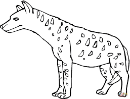 spotted hyena or tiger wolf coloring page free printable