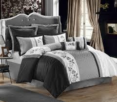Black Comforter King Gray And White Comforter Grey White Large Chevron Bedding Teen