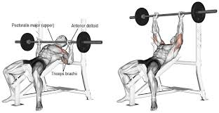 Best Bench Presses Wide Grip Incline Barbell Bench Press Gym Workout Chart