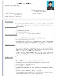 exle resume for resume for hr executive payroll esic pf