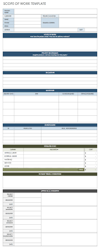 Process Server Invoice Template by Free Statement Of Work Templates Smartsheet