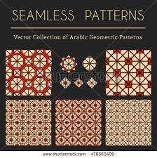 seamless textures collection geometric ornaments symbols stock