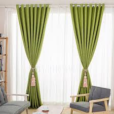 Green Curtains For Living Room by Simple Modern Curtain Fresh Green Color Linen Fabric Living Room
