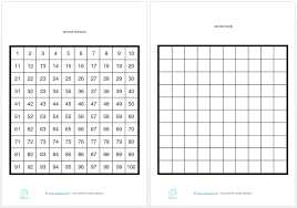 printable 100 counting charts for students u2014 edgalaxy cool stuff