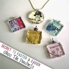 necklace charm diy images Tips to fast mess free diy glass tile pendants png