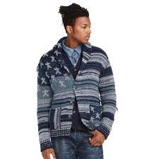 American Flag Cardigan Denim U0026 Supply Ralph Lauren Americana Cotton Cardigan In Blue For