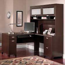 red barrel studio cosner l shaped computer desk with hutch