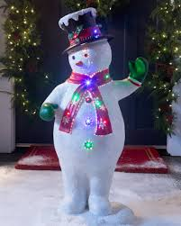 outdoor fiber optic snowman band balsam hill