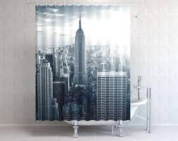 Skyline Shower Curtain Nyc Shower Curtain Etsy