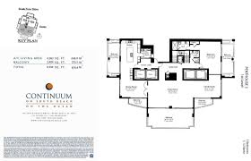 North Shore Towers Floor Plans Continuum Miami Beach Condos For Sale North Tower 50 S Pointe Dr
