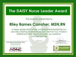 nurse leader award the daisy foundation
