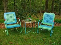 retro metal outdoor table and chairs patio furniture design