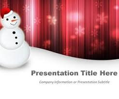 free happy snowman powerpoint template with red background