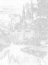 Magic Kingdom Florida Coloring Pages Coloring Home Disney World Coloring Pages