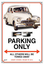 holden car fj holden car parking sign connect4designs
