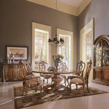 Dining Room Accent Furniture Carved Round Table Dining Set Villa Cortina Dining Room Sets