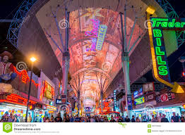 Fremont Street Las Vegas Map by Las Vegas Fremont Street Experience Editorial Stock Image