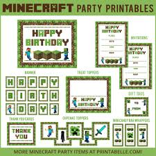 minecraft backdrop minecraft party printable downloads party printables