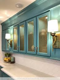 glass kitchen cabinet doors only how to add wire mesh grille inserts to cabinet doors the