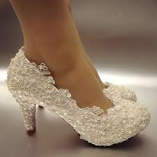 pearl wedding shoes lace white ivory pearls wedding shoes bridal flats low high heel