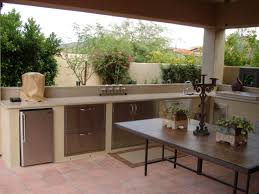 Backyard Kitchen Design Ideas Traditional Outdoor Kitchen Design With High Brick Fireplace And