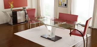 contemporary glass top dining room tables with modern glass dining