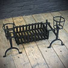 iron fire dogs and supported fire basket fire baskets u0026 grates