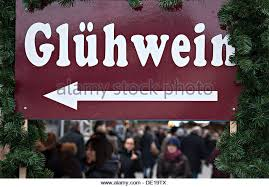 German Christmas Market Decorations by Gluehwein Christmas Market In German Stock Photos U0026 Gluehwein
