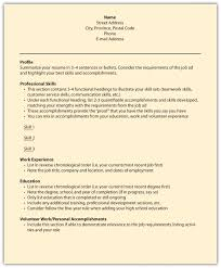 Sample Resume For Oil Field Worker by Canadian Style Resume Template Virtren Com