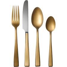 golden carmela mirror flatware set 16 piece walmart com