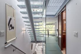 skylights glass floors and stairs loft style duplex in vancouver
