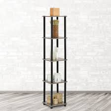How Do You Pronounce Etagere Hampton Bay Black Wood Open Bookcase Thd90004 2a Of The Home Depot