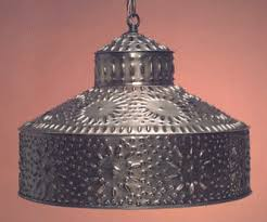 Punched Tin Pendant Light Antique Tin Pierced Pendant Light Shade Shades Hammerworks
