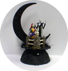 jack u0026 sally f nightmare before christmas wedding cake topper