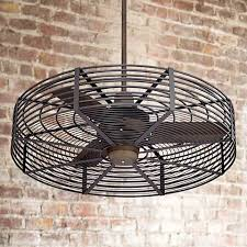 Ceiling Fan With Cage Light 32 Vintage Bronze Black Cage Ceiling Fan 1h576 1h578