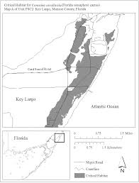 Key Largo Florida Map by Federal Register Endangered And Threatened Wildlife And Plants