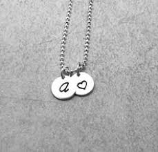 Mothers Necklace With Initials Q Initial Necklace With Heart Sterling Silver Letter Q New