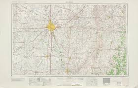 Topographic Map United States by Wichita Topographic Map Sheet United States 1955 Full Size