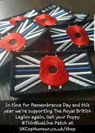 show your respect for remembrance day and the u201cthin blue line